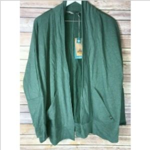 NWT PRANA Forest Green Centerpiece Wrap Jacket XL